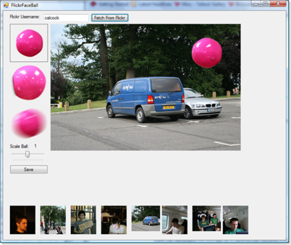 Face Ball picks on the BT Internet Van in the carpark