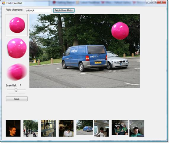 Face Ball picks on the BT Internet Van in the carpark